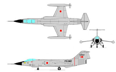 Lockheed F-104 Starfighter çizim.
