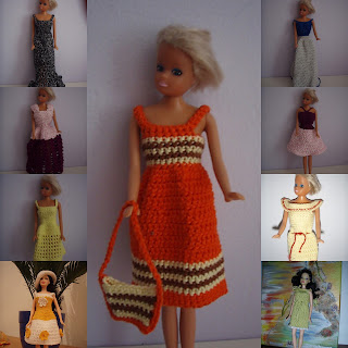 TinklkniT stricken häkeln Barbie Kleider