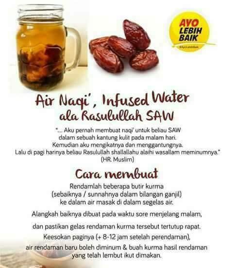 Minuman Infused Water Rendaman Kurma Ala Nabi Muhammad Saw