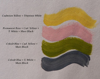 Final Palette color choices and how to mix them.