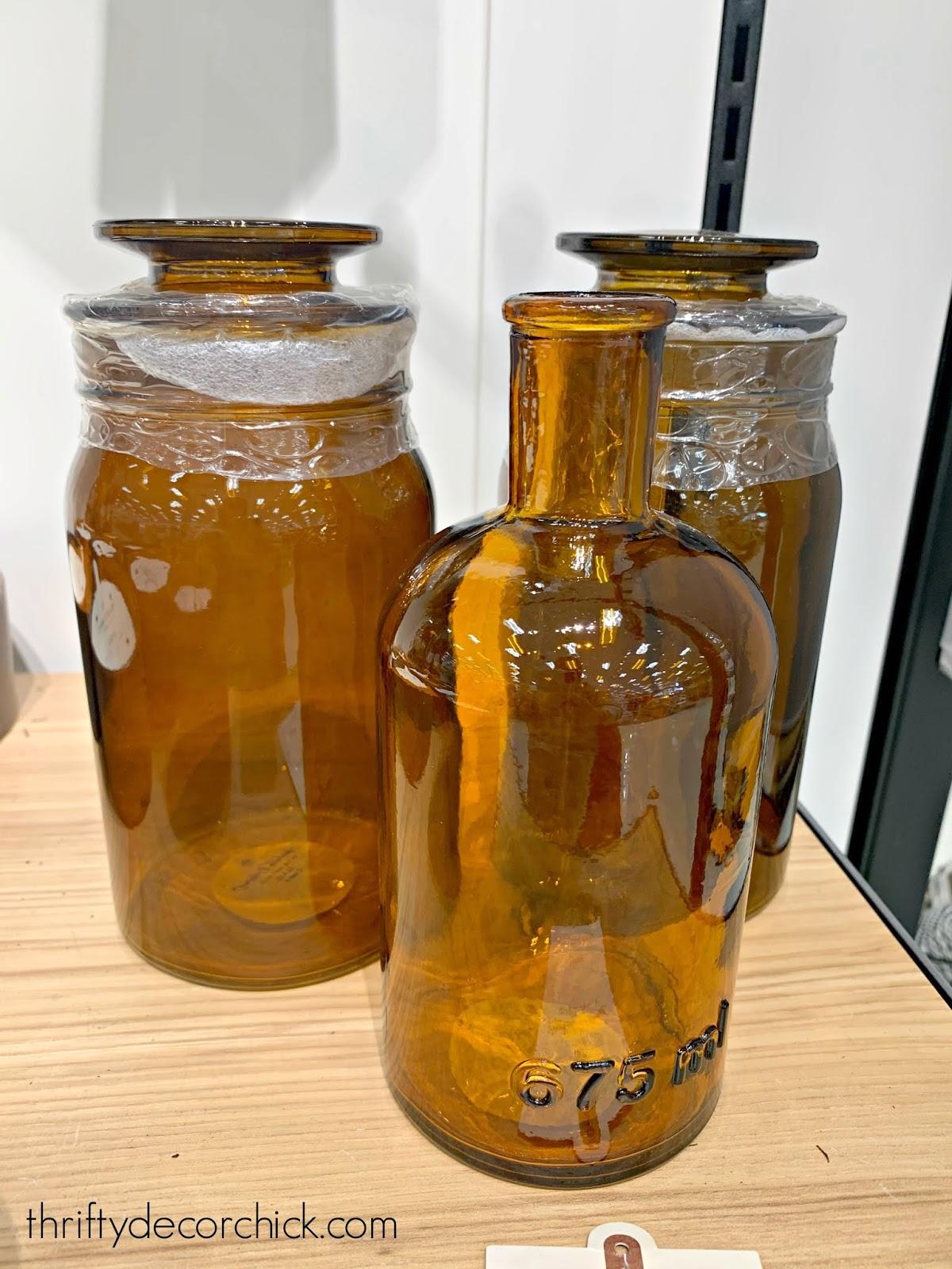 Amber vases for easy fall decor