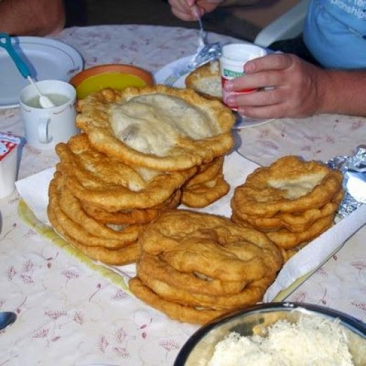 hungarian langos traditional food by silangel