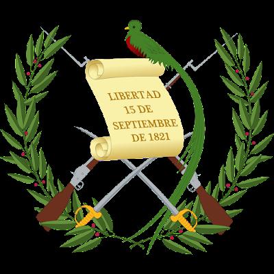 Coat of arms - Flags - Emblem - Logo Gambar Lambang, Simbol, Bendera Negara Guatemala