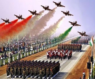 Republic Day aircraft fighter plan india flag color parade