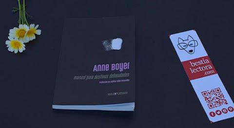 «Manual para destinos defraudados», de Anne Boyer [traducción de Adalber Salas Hernández] (Kriller 71 Ediciones)