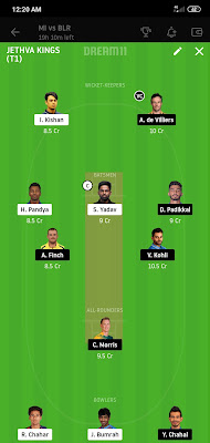 MI VS RCB Dream 11 IPL Match 48 100% Winning The Dream Team 28 Oct 2020