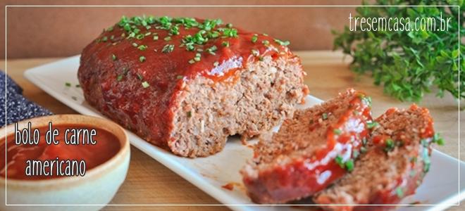 bolo de carne americano receita