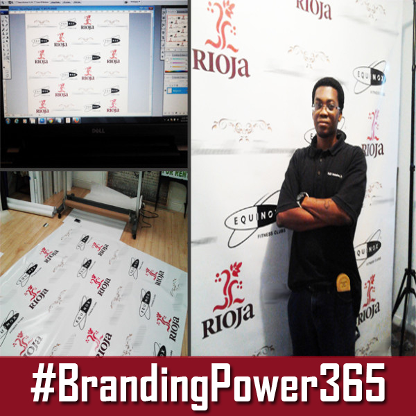 Step and Repeat Backdrop by BrandingPower365.com; RJO Ventures Inc