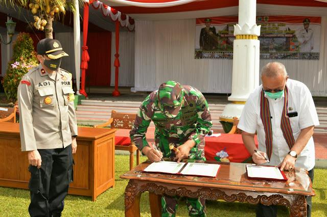 TMMD Sengkuyung Tahap ll dan Karya Bhakti Mandiri Klaten Bersinar Ke V dan VI Kab. Klaten Tahun 2020 Resmi Di Tutup