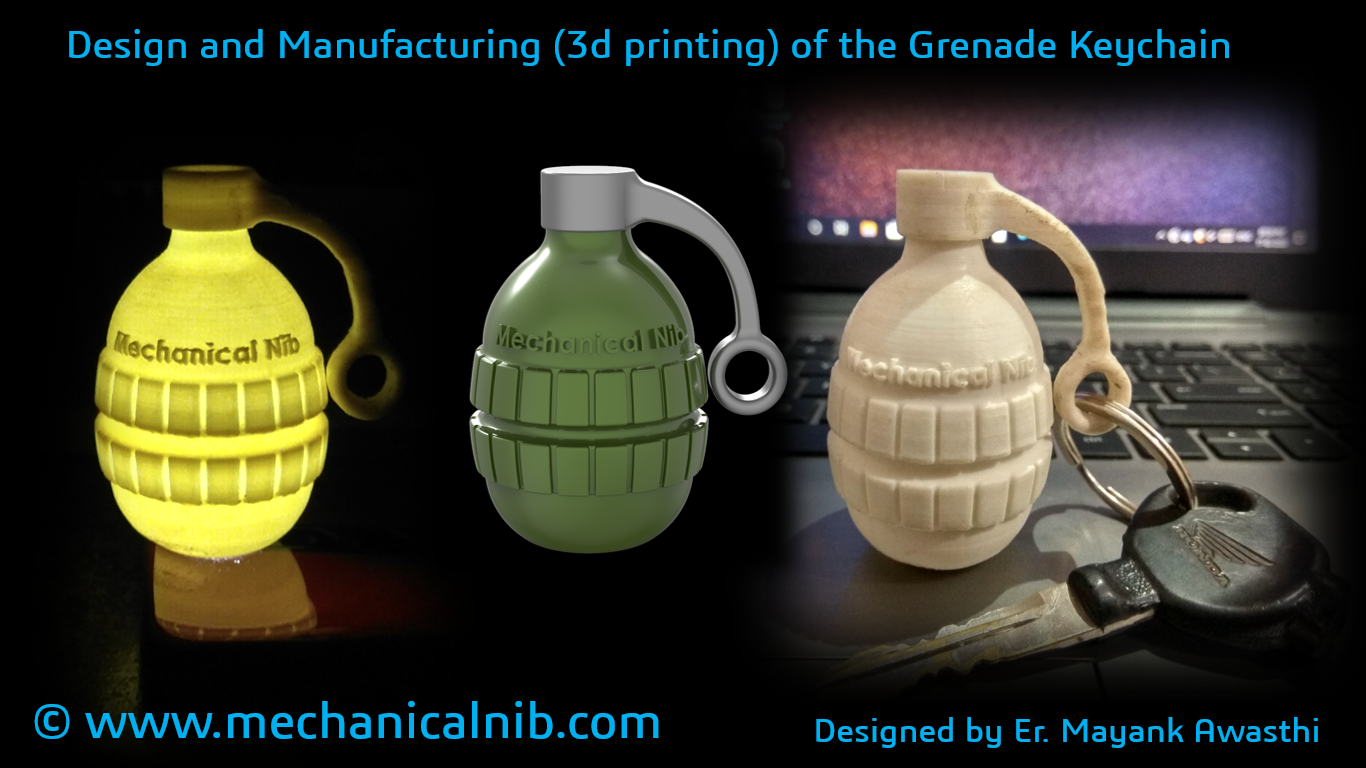 Grenade Keyring by Mechanical Nib
