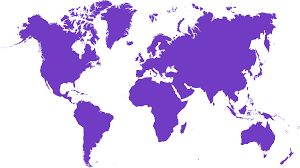 Worldwide coverage area marketer