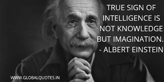 The true sign of intelligence is not knowledge yet imagination.