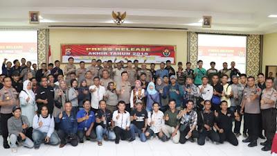 Kapolda Banten Paparkan Capaian Hasil Kerja 2019, Berhasil Tuntaskan Kasus Tindak Pidana