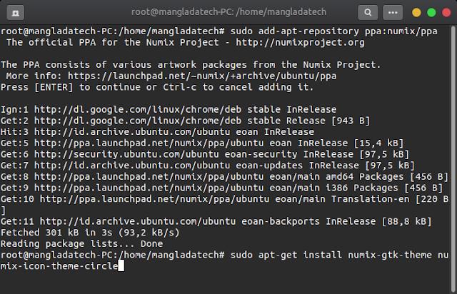 Install Tema Numix di Ubuntu Linux