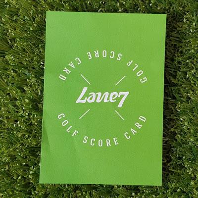Lane7 Mini Golf scorecard