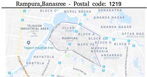 Dhaka khilgaon post code