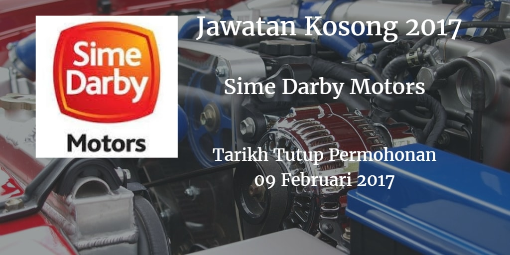 Jawatan Kosong  Sime Darby Motors 09 Februari 2017