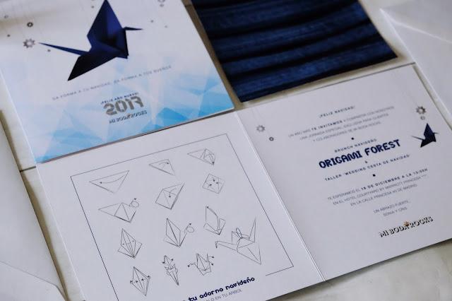 Invitacion Origami Forest - DIY grulla origami - Mi Boda Rocks