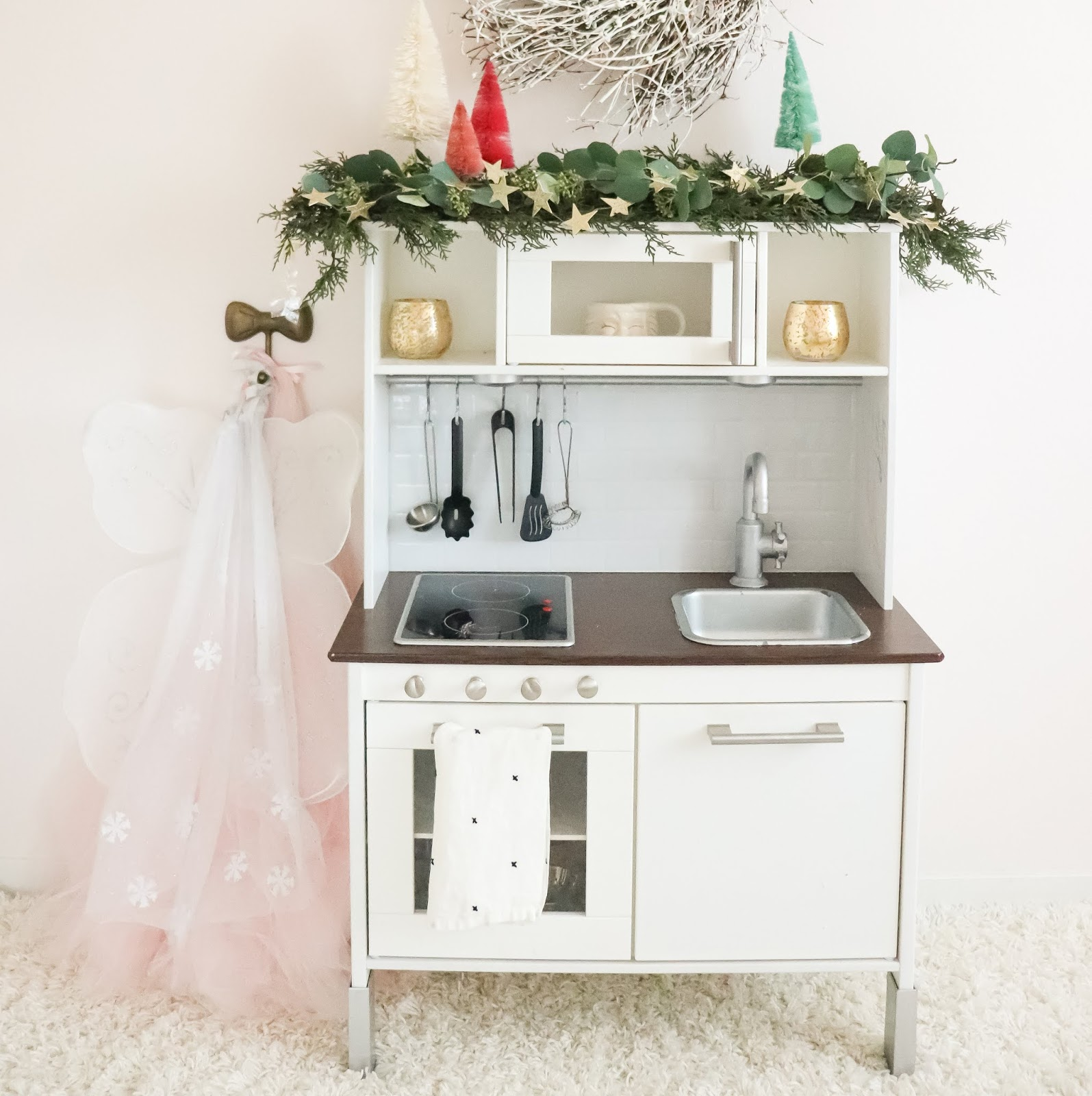 DIY upgraded play kitchen