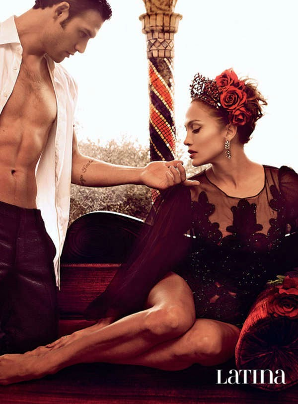 Jennifer Lopez and Ryan Guzman pose for a seductive photoshoot for Latina Magazine February 2015