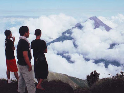 The peak of Merbabu
