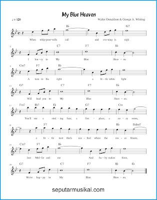 My Blue Heaven chords jazz standar