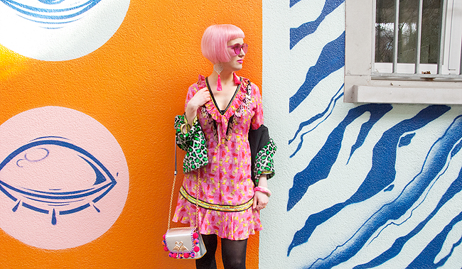 blogger look, Celia B, colourful fashion