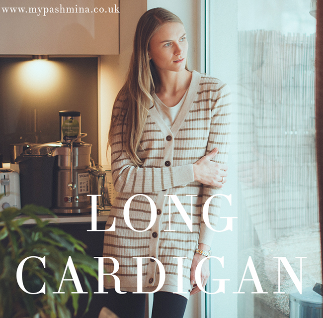 Longline Cashmere Cardigan from Mypashmina.co.uk