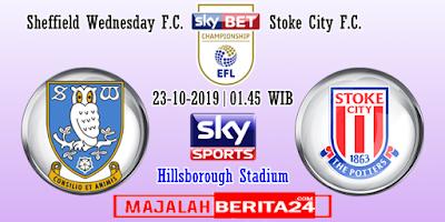 Prediksi Sheffield Wednesday vs Stoke City — 23 Oktober 2019