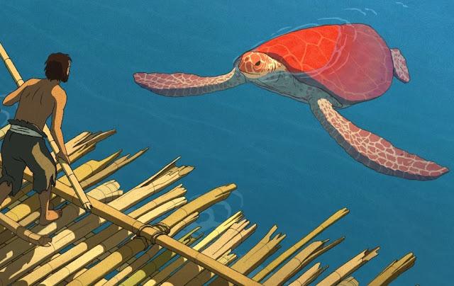 Imagen de la película La tortuga roja