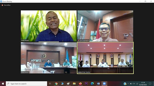 PWI Pusat Putuskan HPN 2021 Digeser di Tahun 2022, Tempat  Tetap Di Sulawesi Tenggara