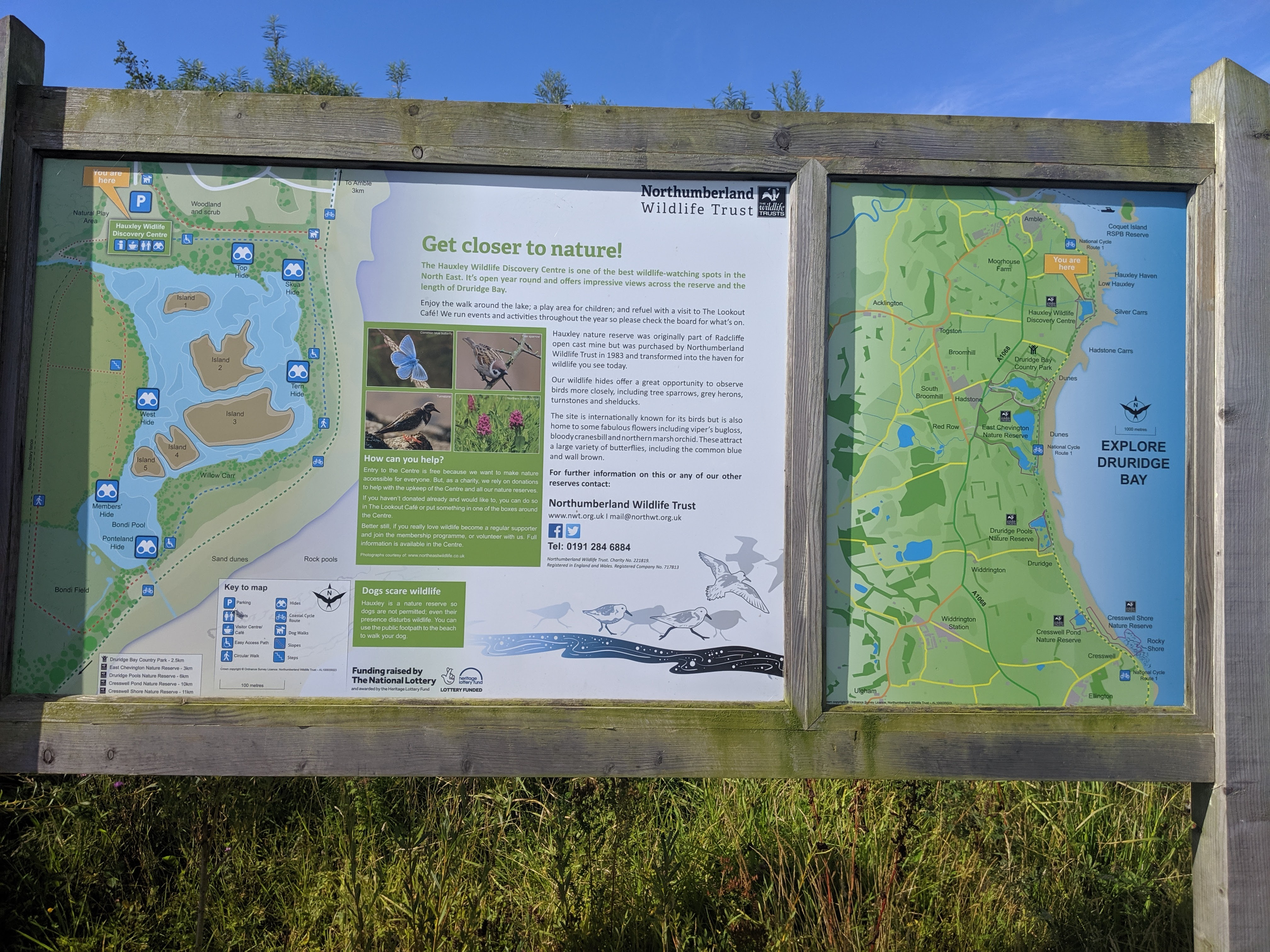 Low Hauxley Nature Reserve Map