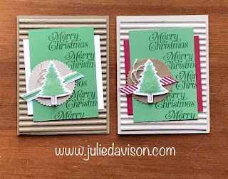 Stampin' Up! Perfectly Plaid Christmas Card ~ 2019 Holiday Catalog ~ #stampinup #christmas ~ www.juliedavison.com