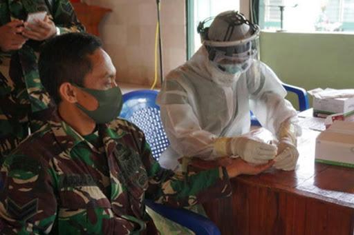 Ratusan Personel Kodim Maros Rapid Test Covid-19