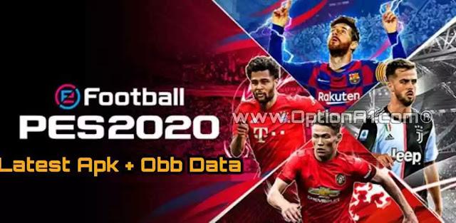 تحميل لعبة eFootball PES 2020 Full Apk + OBB Data باخر الانتقالات للاندرويد
