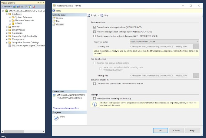 The backup set holds a backup of a database other than the existing SQL Server 2012
