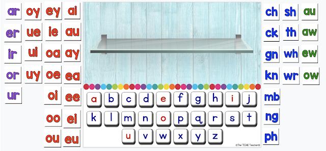 Digital letter tiles