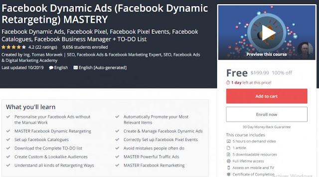 [100% Off] Facebook Dynamic Ads (Facebook Dynamic Retargeting) MASTERY| Worth 199,99$