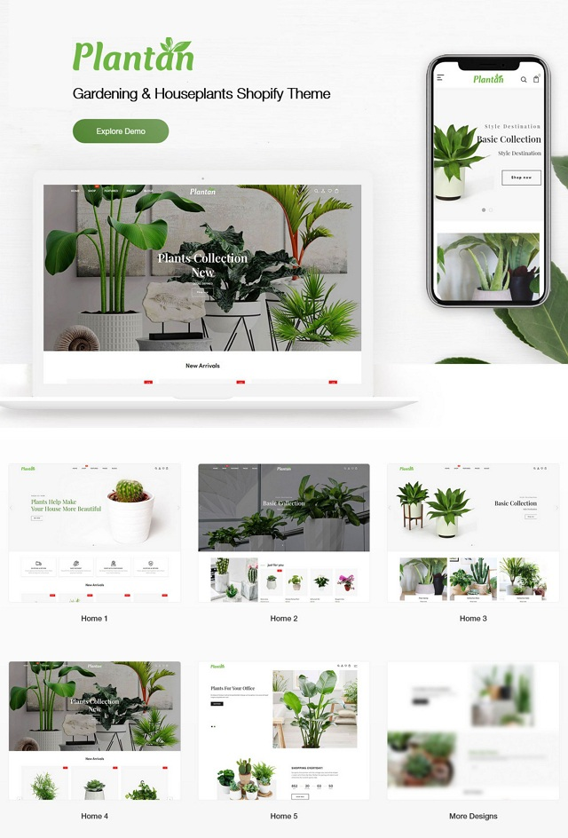 Gardening & Houseplants Shopify Theme