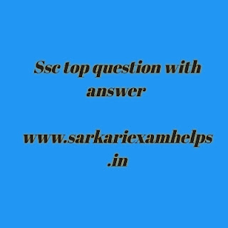 Ssc very importent questions answer