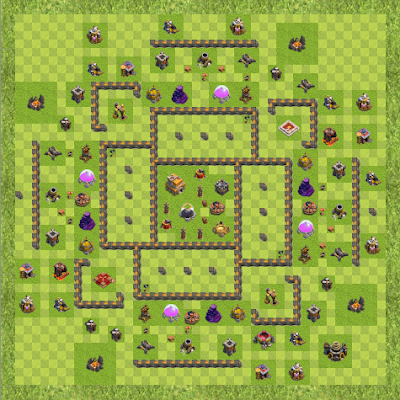 War Base Town Hall Level 9 By Toton Sk (Gangster boys TH 9 Layout)
