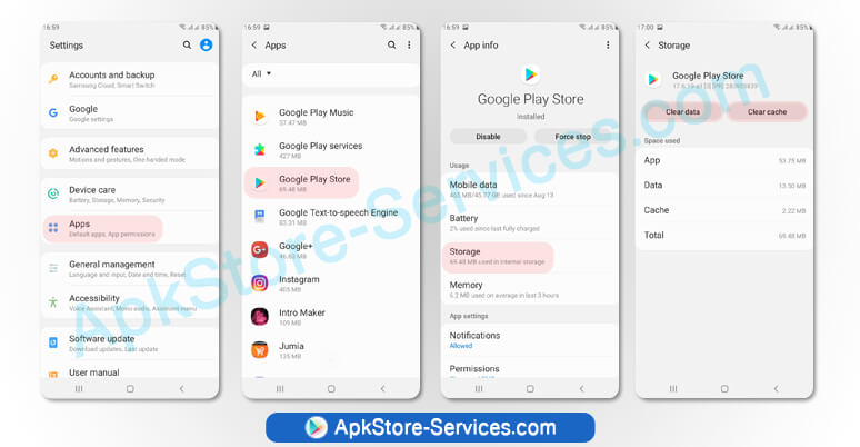 إصلاح أخطاء متجر Google Play