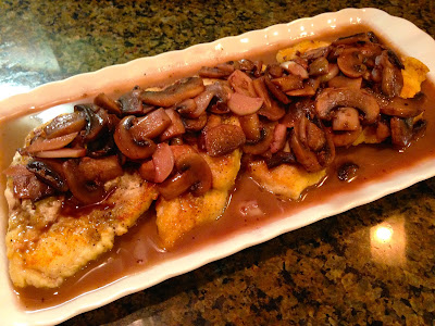 Chicken Scaloppini In Sherry & Red Wine Mushroom Sauce