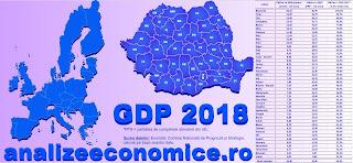 Topul județelor după PIB-ul la paritatea de cumpărare din UE în anul 2018