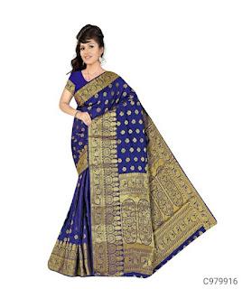 Posh Banarasi Silk Jacquard Kanjivaram Sarees