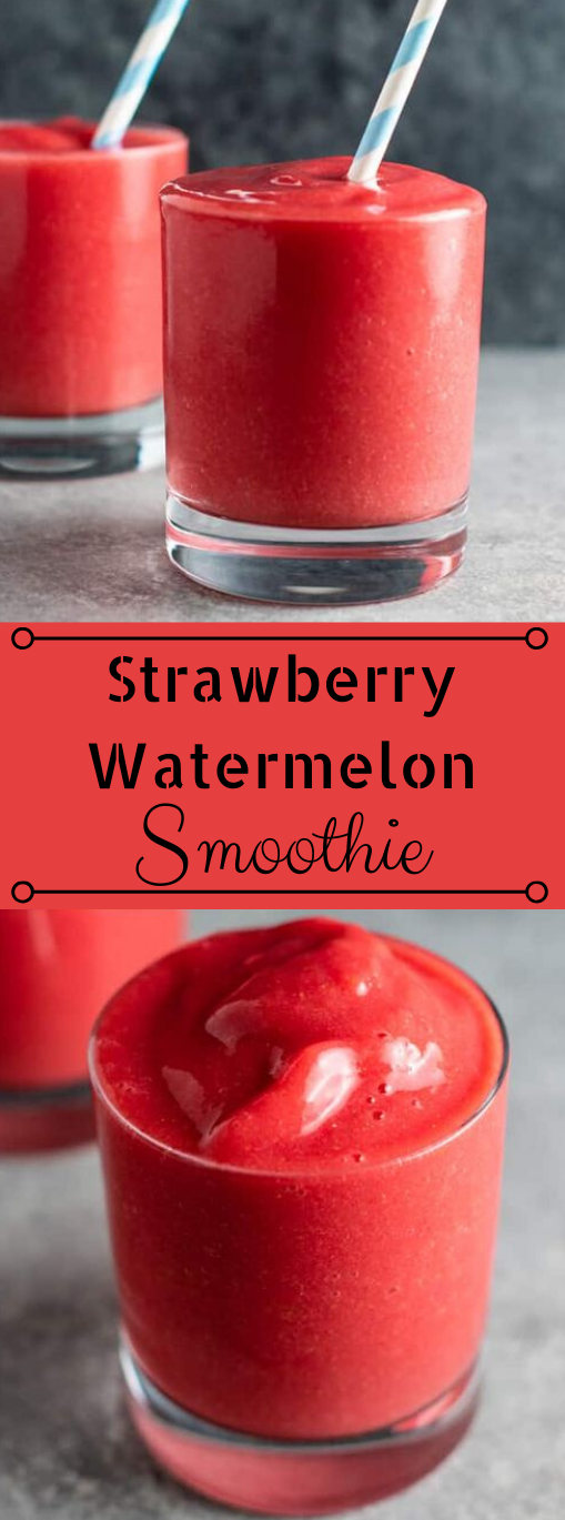 STRAWBERRY WATERMELON SMOOTHIE #drink #smoothie #watermelon #strawberry #easy