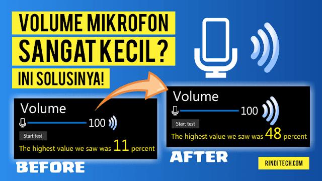 Volume Suara Mikrofon sangat kecil di PC Windows? Ini Solusinya
