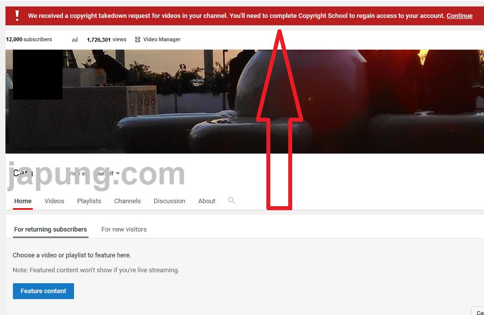 cara atasi copyright school youtube