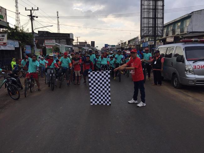 Gelar Gowes Sepeda, Polres Mesuji Berbaur Bersama Masyarakat