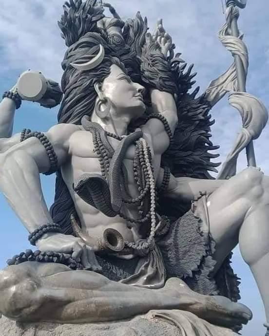 Largest Shiva statue in Kerala; Vizhinjam Azhimala, Gangadhareshwara